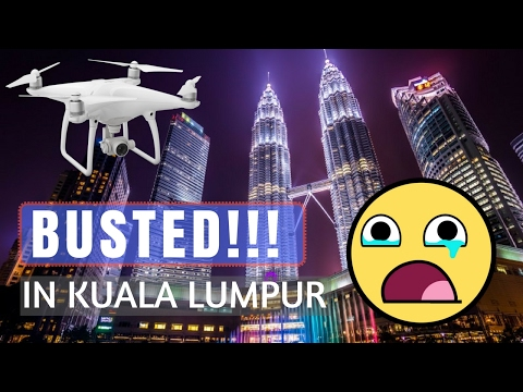 ALMOST ARRESTED FLYING DRONE IN KUALA LUMPUR 😰😰