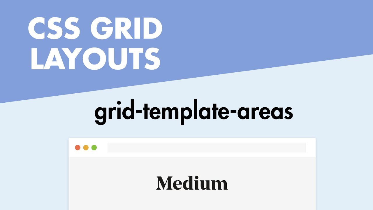 CSS Grid Layouts - grid-template-areas (Medium.com Example) - YouTube