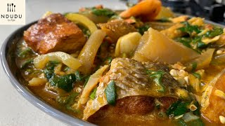 SEAFOOD & WELE/PONMO (COW HIDE) OKRO SOUP RECIPE