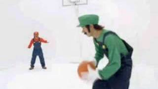 Japanese Mario Hoops 3 on 3 commercial