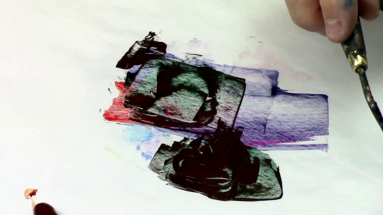 Comment faire le noir en peinture - YouTube