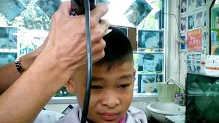 vuclip ทรงนักเรียนม้วนเดียวจบ High skin fade,boy student thailand.