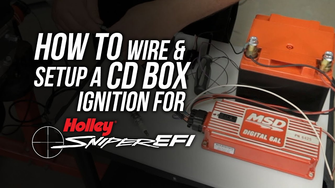 boost msd digital 6al wiring diagram sniper efi how to wire and setup for a cd box ignition youtube  sniper efi how to wire and setup for a