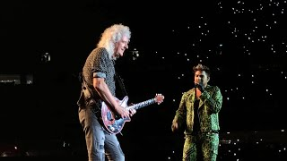 Queen & Adam Lambert We Are The Champions - Fire Fight Australia Concert ANZ Stadium Sydney 16/2/20