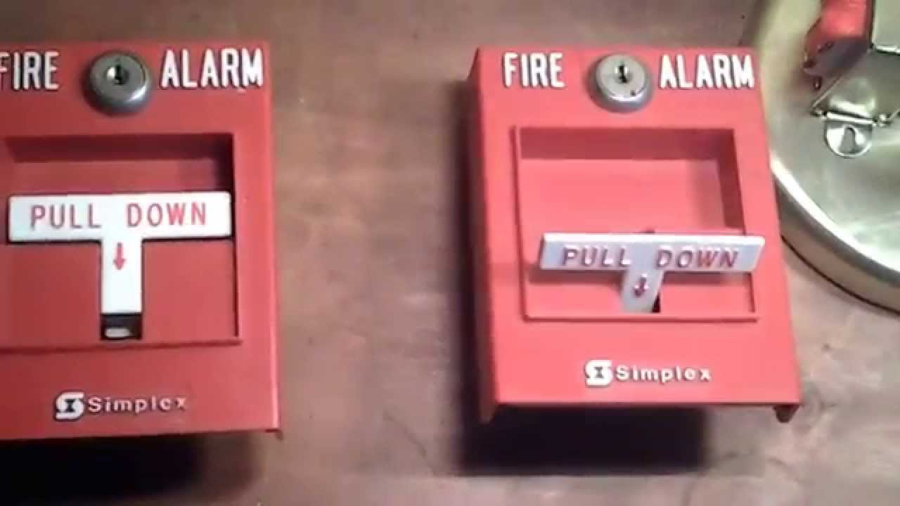 how a fire alarm pull station works switch activation part 1 youtube