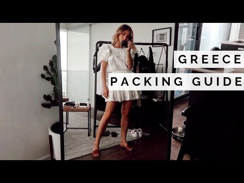 WHAT TO PACK FOR GREECE | CARRY ON PACKING GUIDE + MASSIVE SHOPBOP SALE