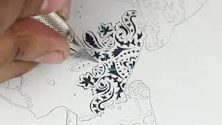 #15 - How to Papercut | Papercutting | Papercraft | Paper Art  | Handmade | Craft | Parth Kothekar