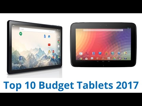 10 Best Budget Tablets 2017