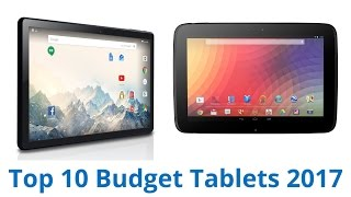 10 Best Budget Tablets 2017