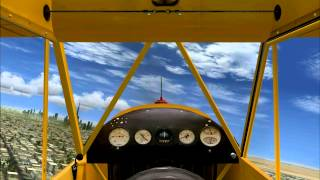 Piper Cub Flying Through Burj Al Arab Dubai - Sim