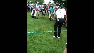Tiger Woods dropping an F bomb.