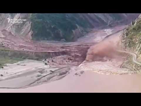 Landslide Sweeps Through Tajik Valley