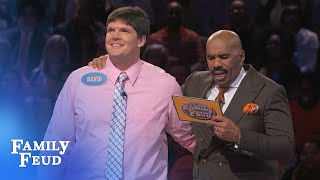 Can David get it DONE??? | Family Feud