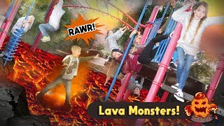Lava Monster at a Park with The Good Bits and That YouTub3 Family!