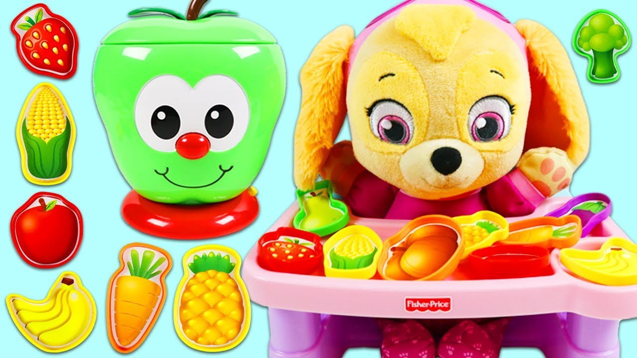 Download Paw Patrol Baby Skye Plays the Sort and Learn Apple Game!