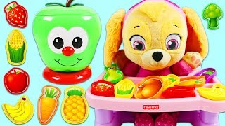 Paw Patrol Baby Skye Plays the Sort and Learn Apple Game!