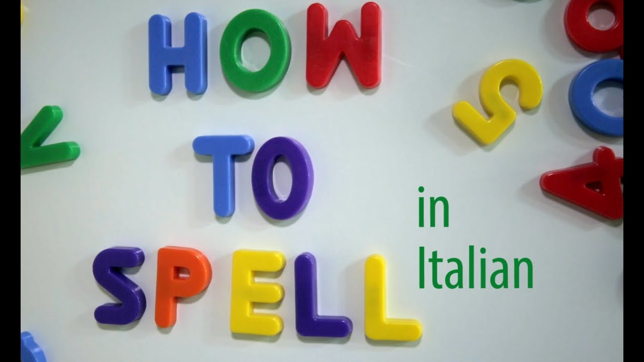 How To Spell In Italian The Florentine Youtube