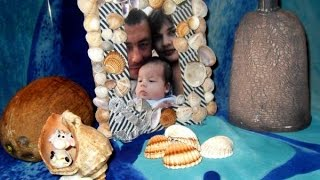 Рамка для фото из ткани и морских ракушек. Как сделать