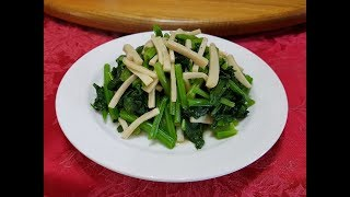 料理影片#98:白菇菠菜