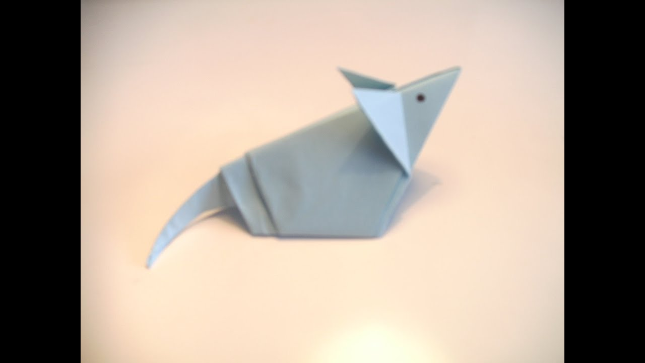 Origami Mouse Easy Tutorial Handmade Diagram Embroidery You