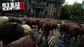 +1000 ANIMALES EN LA CIUDAD !! LOCURAS EN RED DEAD REDEMPTION 2 (MODS) - ElChurches