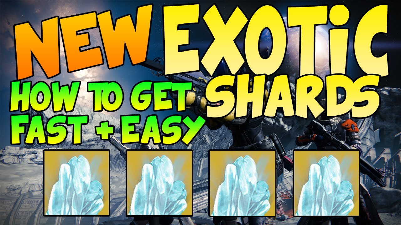 Upgrade exotic items easy exotic shards fastest easiest way