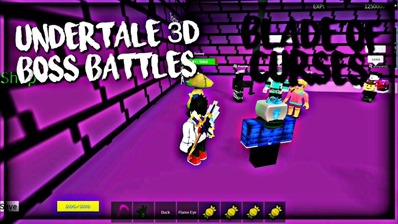 Roblox Undertale 3D Boss Battles: Blade Of Curses (Pursuer)
