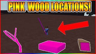 EVERY PINK WOOD LOCATIONS! (TOP 5 BEST!) [BTOOLS!] LUMBER TYCOON 2 ROBLOX