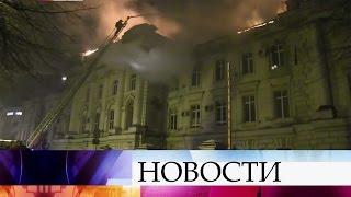 Крупный пожар вобластной детской больнице тушили этой ночью вТвери