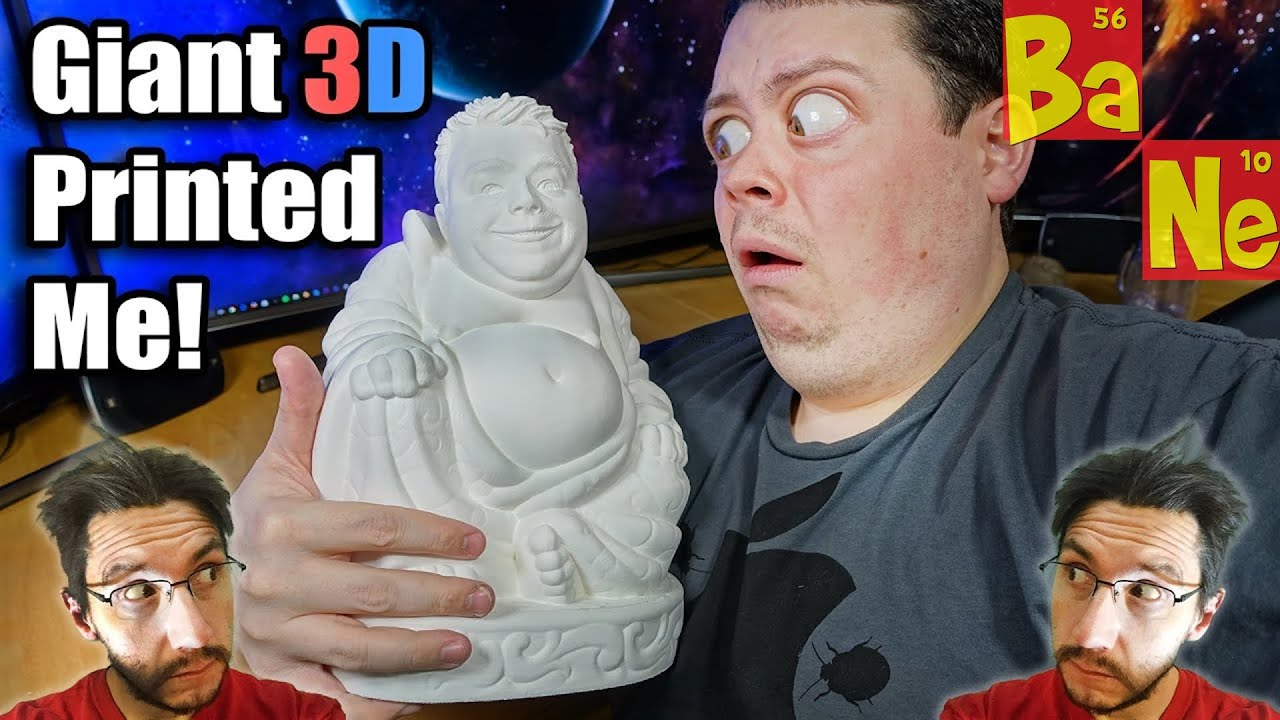 Giant D Printed Buddha With My Head WTF YouTube - Thanks to 3d printing you can now print a lego head of yourself
