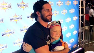 Seth Rollins meets Bayley's biggest fan, Izzy