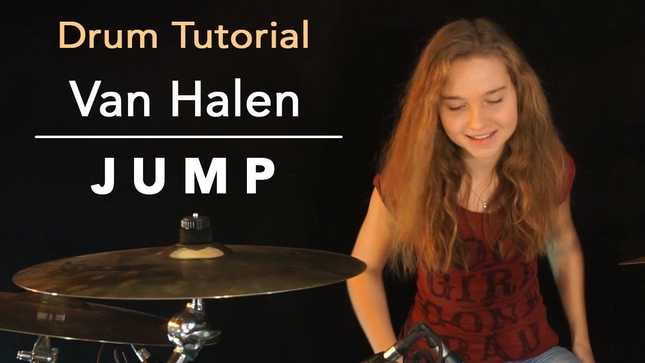 How To Play Jump Van Halen Drum Tutorial By Sina Youtube