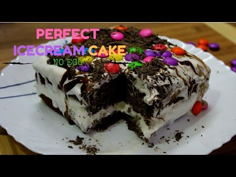 VANILLA ICE-CREAM CAKE RECIPE| EGGLESS CAKE | CREAMY AND DELICIOUS