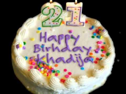 Happy Birthday Khadija Cake
