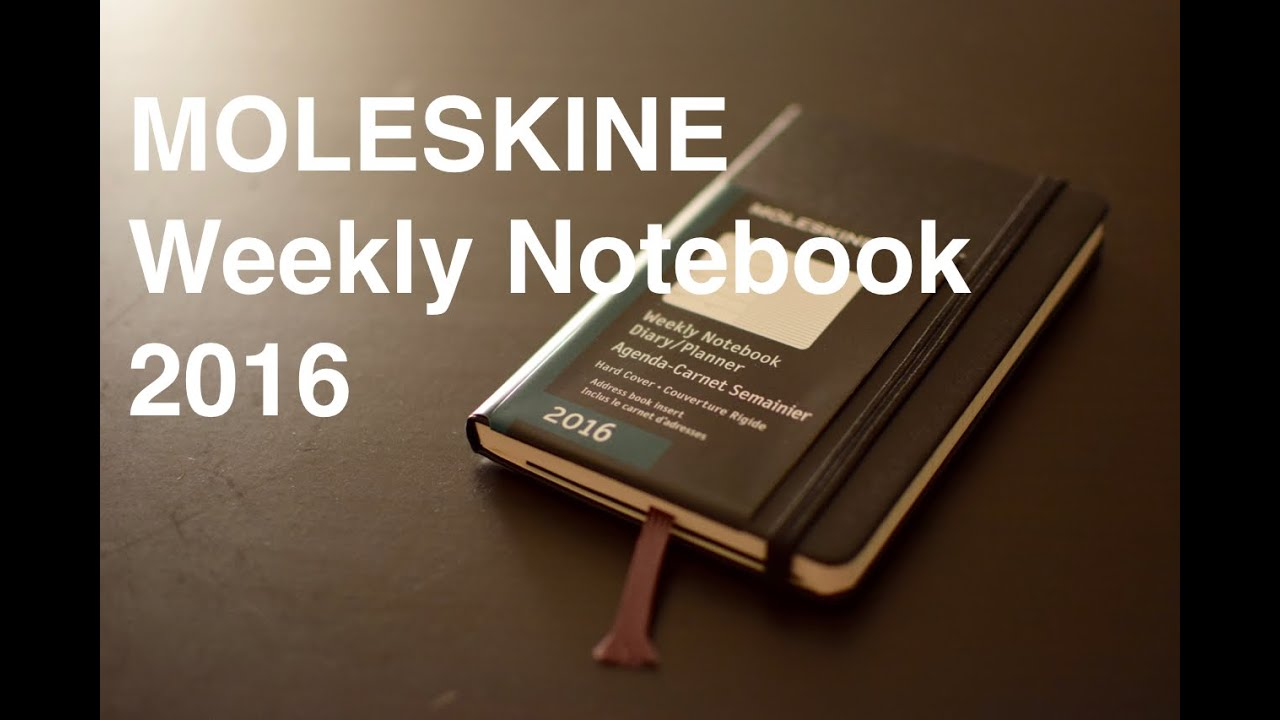moleskine weekly notebook 2016 12m pocket hard cover youtube