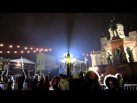 Helsinki New Year 2014 Celebration - HD Video Tour, Finland