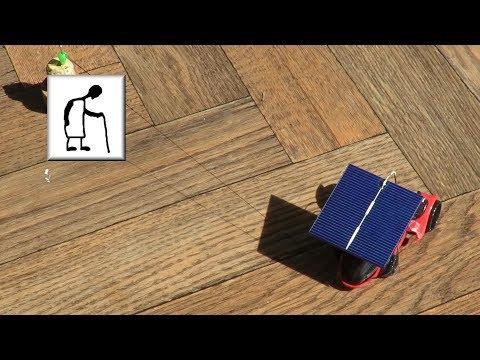 Solar powered car using Polycrystalline solar cells