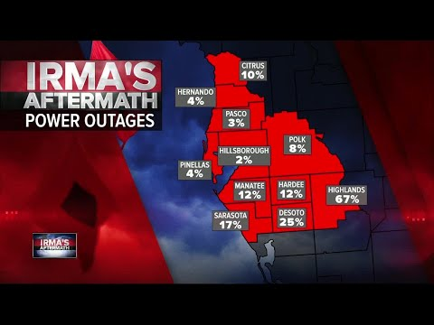 Irma's Aftermath: Power Outages throughout Tampa Bay Area