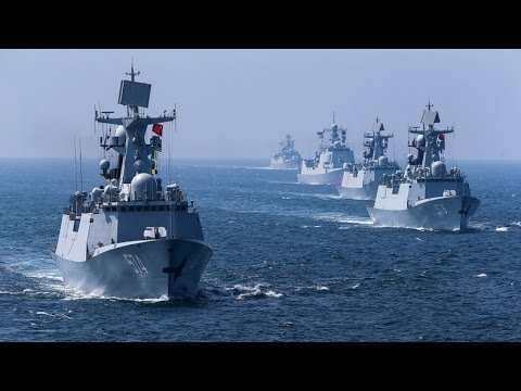 Russia & China finish joint naval drills (Dramatic footage)