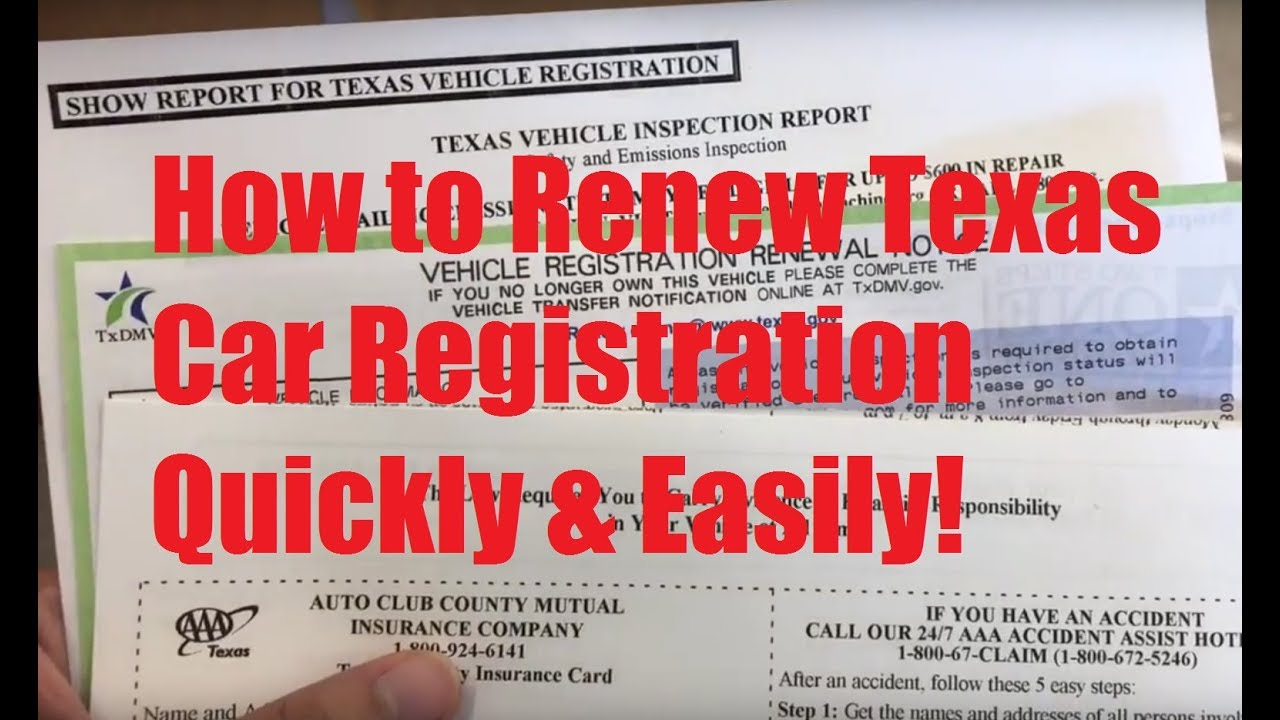 Expired Registration Texas >> How To Renew Texas Car Registration Quickly Easily Avoid Dmv