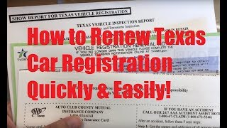 How to Renew Texas Car Registration Quickly & Easily! (AVOID DMV LINES!)