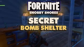 FORTNITE Snobby Shores Secret Bomb Shelter!