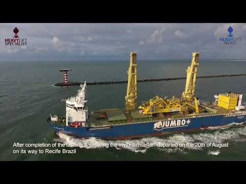 Jumbo loading+Installation of Huisman VLS Tower 12min