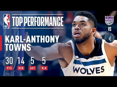 Download Youtube: Karl-Anthony Towns Puts Up 30 pts, 14 rebs, 5 asts, & 5 blks vs The Kings