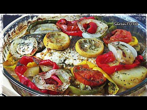 daurade-royale-au-four-et-aux-petits-légumes-/-dorada-con-verduras-al-horno-/-receta-fácil-/