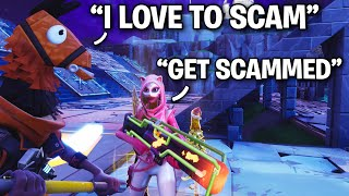 TWO PSYCHO KIDS nearly scammed ME!! 😂😎 (Scammer Get Scammed) Fortnite Save The World
