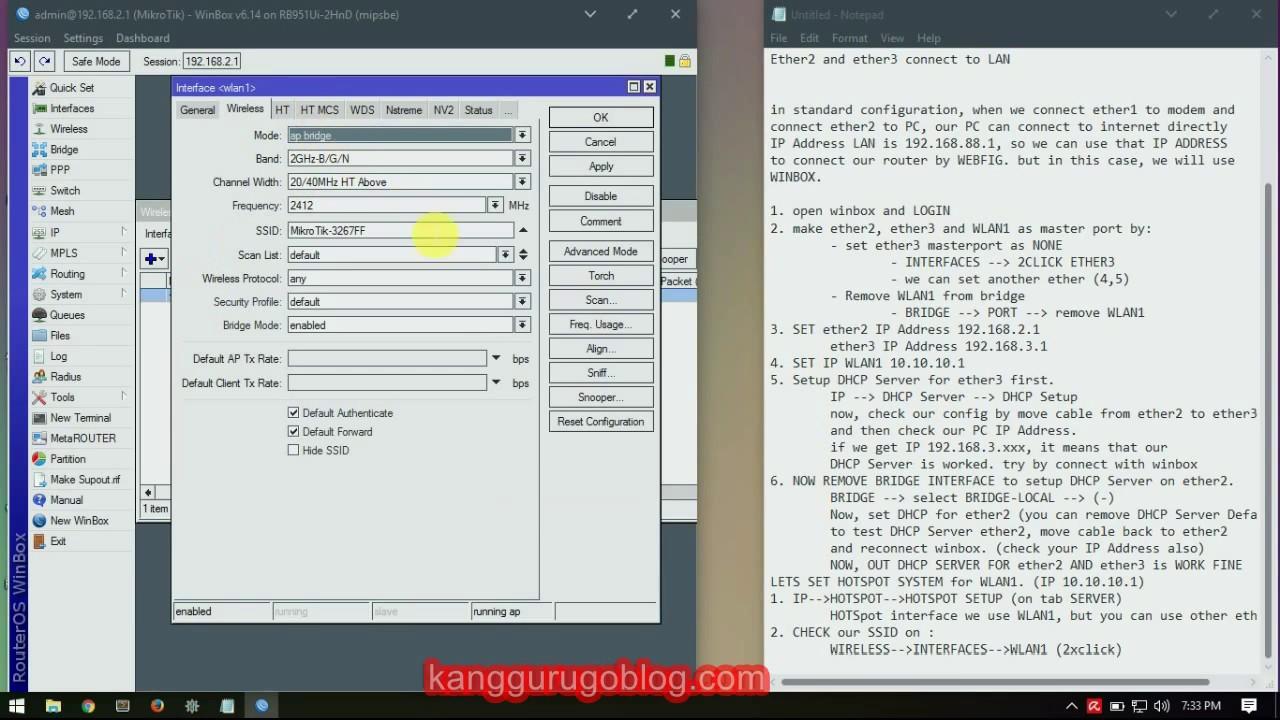 Part 1 : Setup IP Address, DHCP Server, Hotspot System with Mikrotik  RB951Ui-2HnD