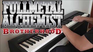"fullmetal alchemist brotherhood opening 5 - ""rain"" (piano w/ lyrics)"