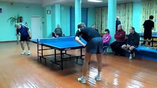 Настольный теннис Омск 2012 Горбунов Смычков