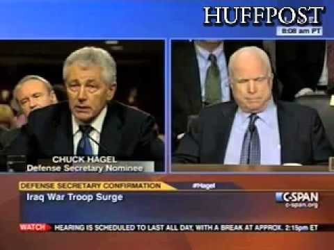 Chuck Hagel And John McCain Clash Over Surge In Iraq